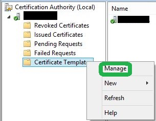 CA Certificate manager approval