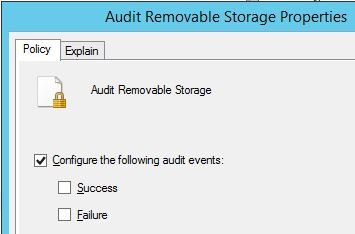 Audit removable storage