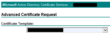 Solved] the certificate's template doesn't show up for web.