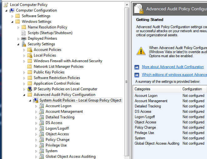 How to change advanced audit settings with Powershell