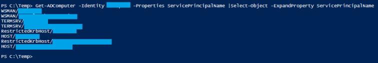 View a computer's SPN list
