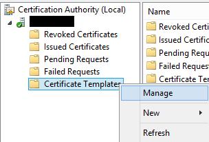 Certificate Templates console