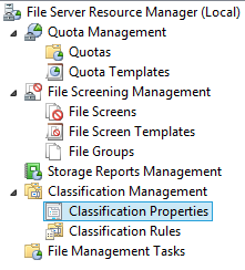 File Server Resource Manager local Classification Properties