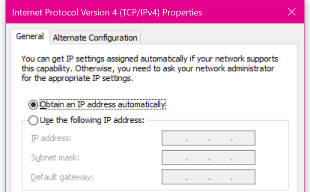 how to get ip configuration