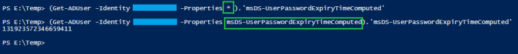 active directory constructed computed attribute property not show showing