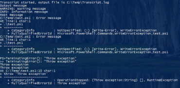 What is captured with PowerShell transcripts