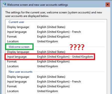 Solved] Windows Core keyboard language when entering password